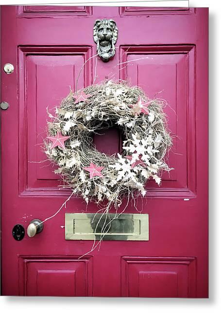 A Christmas Wreath Greeting Card by Tom Gowanlock