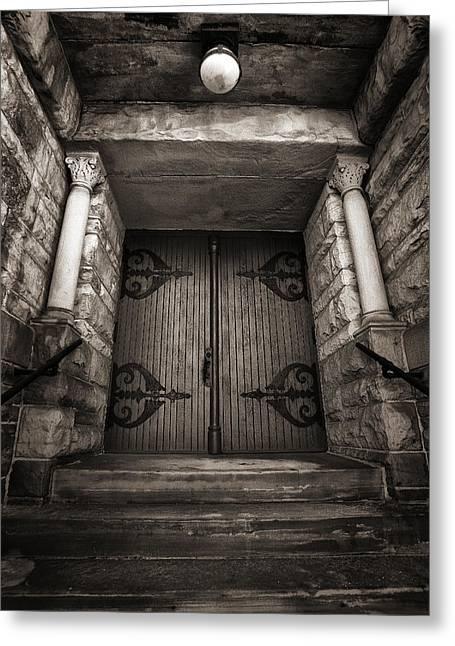 A Church Door Greeting Card