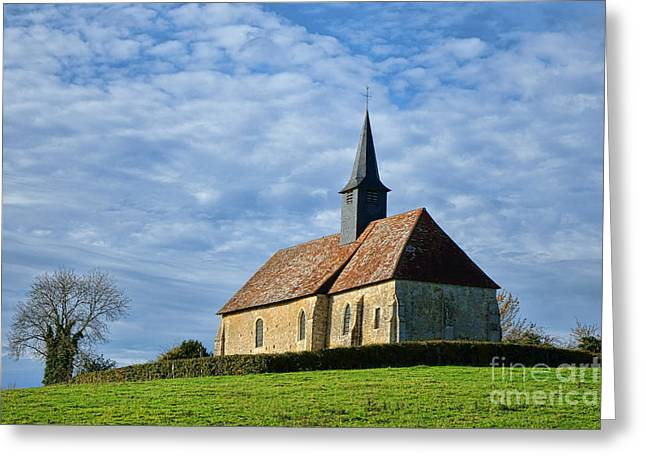 A Church In France Greeting Card by Olivier Le Queinec