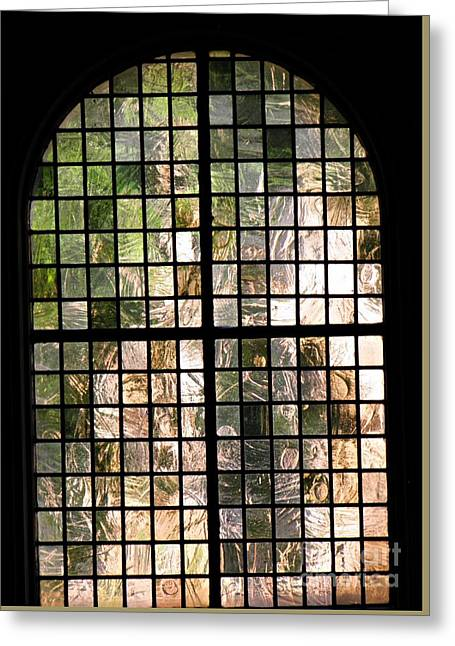 A Church Window Greeting Card by Sarah Loft
