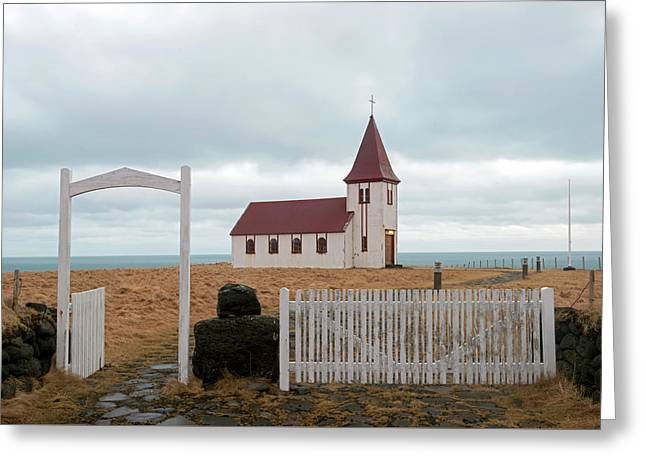 Greeting Card featuring the photograph A Church With No Fence by Dubi Roman