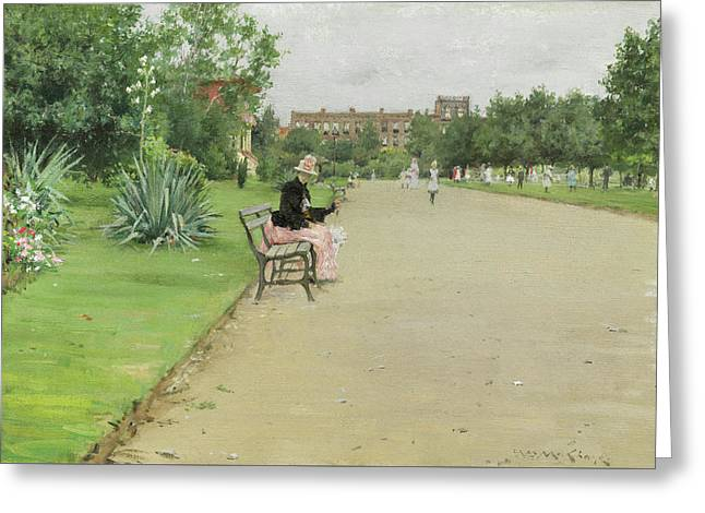 A City Park Greeting Card