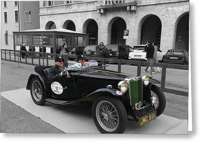 A Classic Vintage British Mg Car Greeting Card