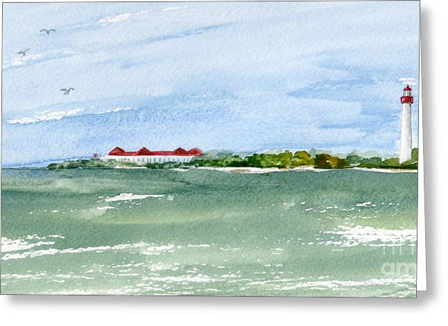 A Clear Day At Cape May Point  Greeting Card by Nancy Patterson