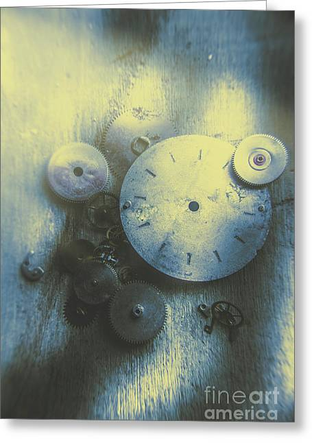 A Clockwork Blue Greeting Card by Jorgo Photography - Wall Art Gallery