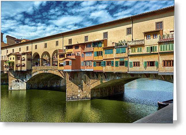 A Closer Look To Ponte Vecchio Greeting Card