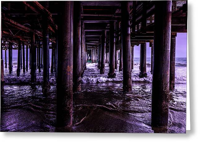A Cloudy Day Under The Pier Greeting Card