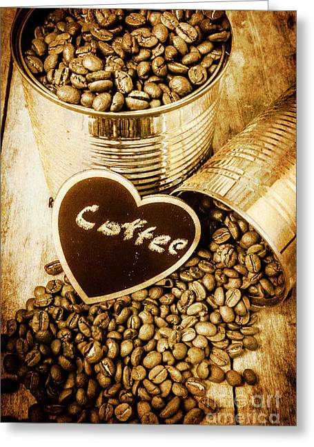 A Coffeehouse Romance Greeting Card by Jorgo Photography - Wall Art Gallery