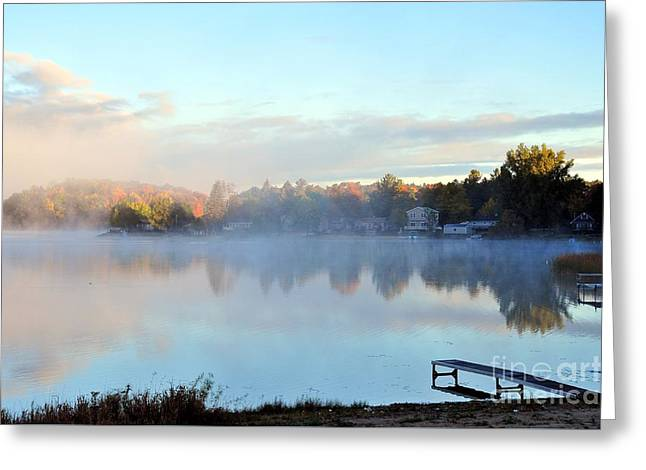 A Cold October Morning Greeting Card by Terri Gostola