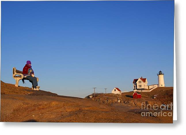 Greeting Card featuring the photograph A Cold Winter Day At The Lighthouse by David Bishop