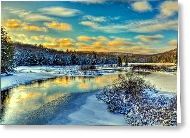 A Cold Winter Day Greeting Card by David Patterson