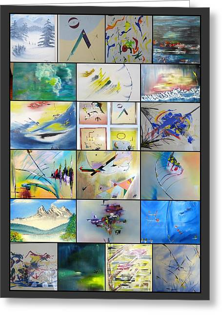 A Collection Of David Hatton Artworks Greeting Card by David Hatton