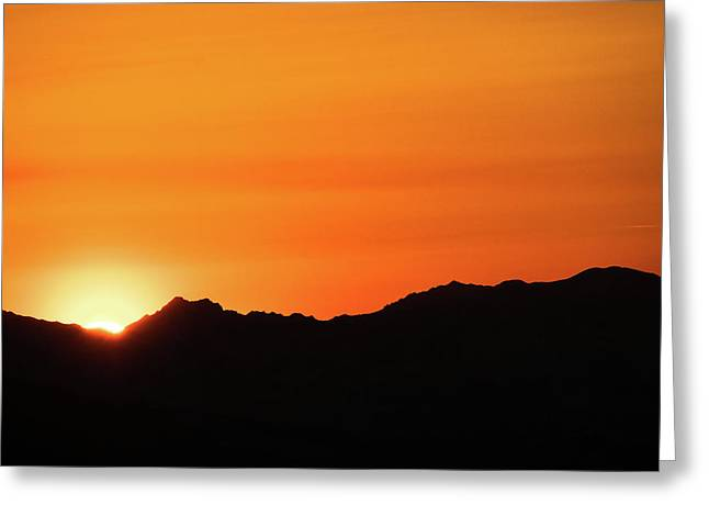 A Colorado Sunset Greeting Card