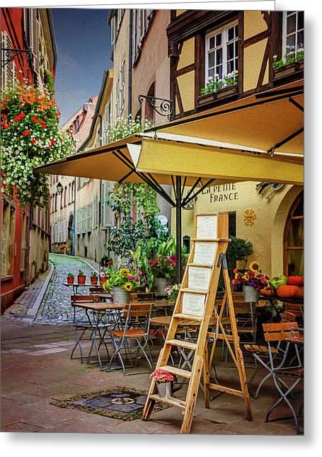 A Colorful Corner Of Strasbourg France Greeting Card