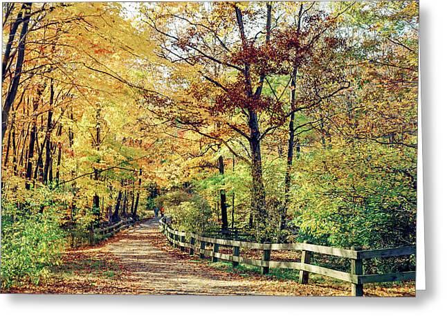A Colorful Walk Greeting Card