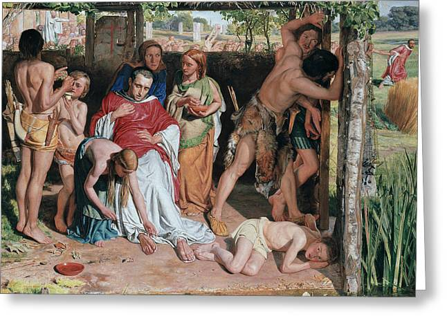 A Converted British Family Greeting Card by William Holman Hunt