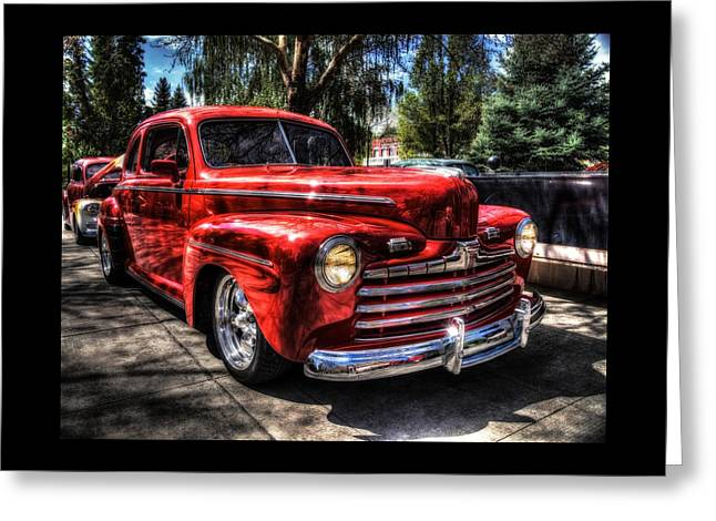 A Cool 46 Ford Coupe Greeting Card