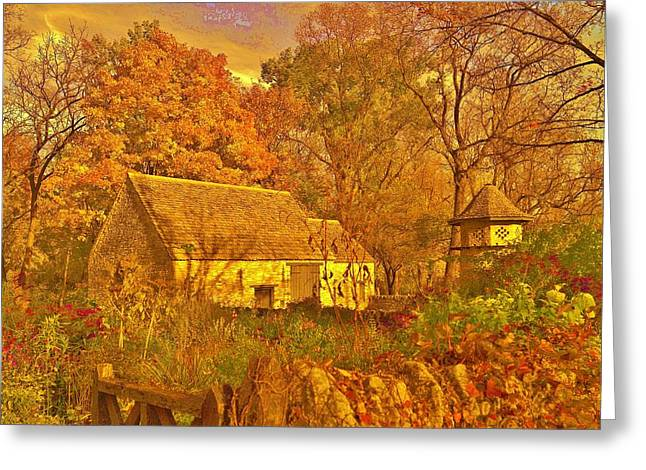 A Cotswald Fall  Greeting Card by Daniel Thompson