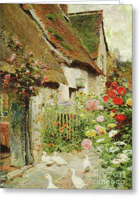 A Cottage Door Greeting Card