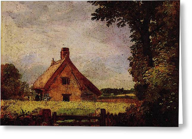 A Cottage In A Cornfield Greeting Card by John Constable