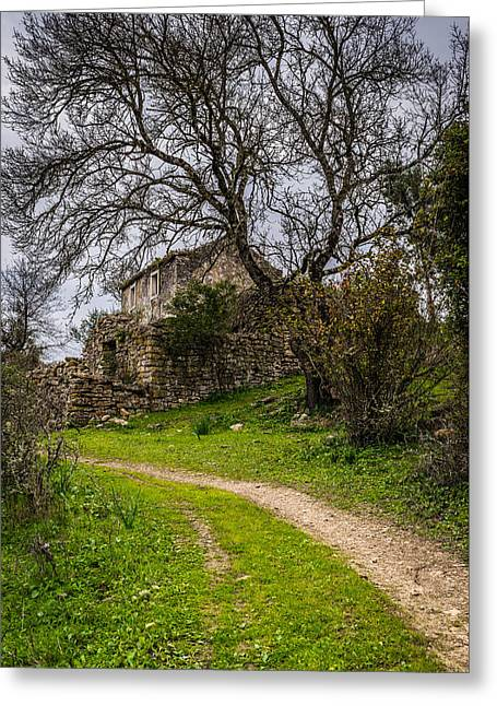 A Cottage In Ruins II Greeting Card by Marco Oliveira