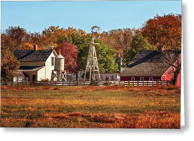 Greeting Card featuring the photograph A Country Autumn by Susan Rissi Tregoning