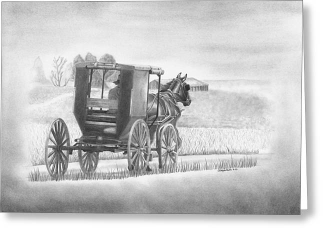 A Country Ride Greeting Card by Christopher Brooks
