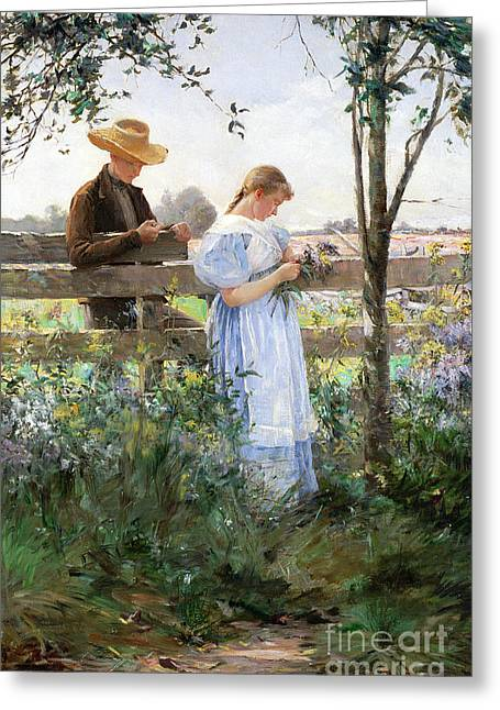 A Country Romance Greeting Card by David B Walkley