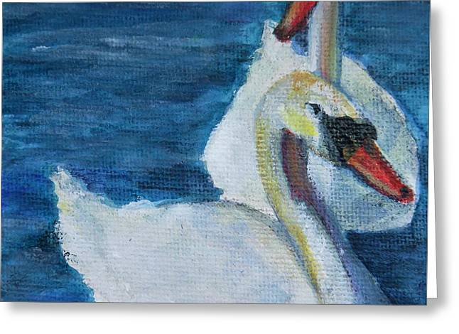 A Couple Of Swans Greeting Card