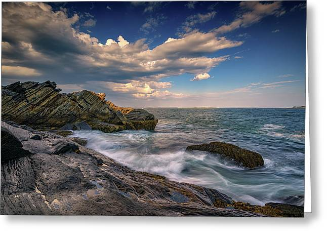 A Cove On Muscongus Bay Greeting Card by Rick Berk