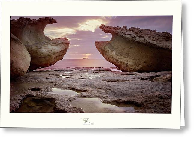 A Crab Stone, By The Cosmic Joker Greeting Card