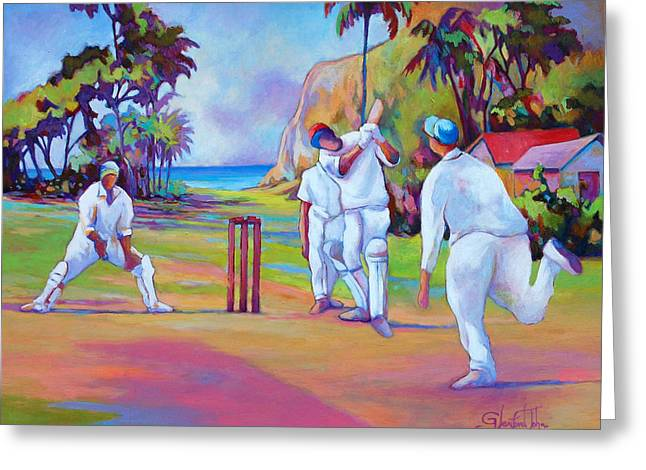 A Cricket Game Greeting Card