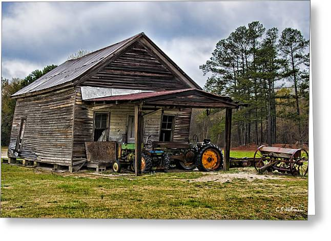 A Crooked Little Barn Greeting Card by Christopher Holmes