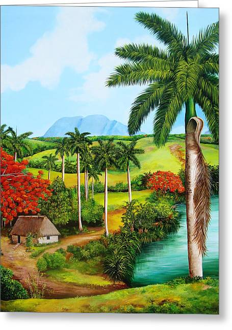A Cuban Valley Greeting Card