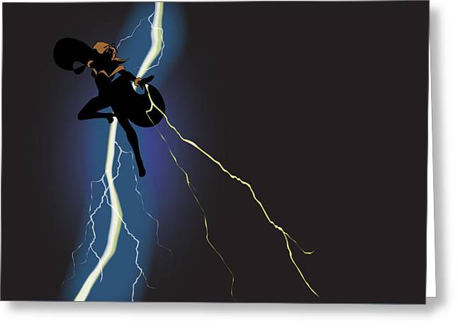 A Dark And Stormy Knight Returns Greeting Card by Paul T Plale