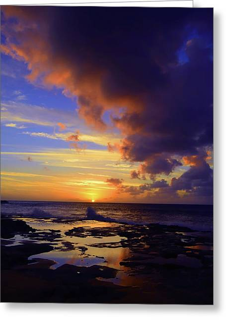 Greeting Card featuring the photograph A Dark Cloud Among Colour by Tara Turner