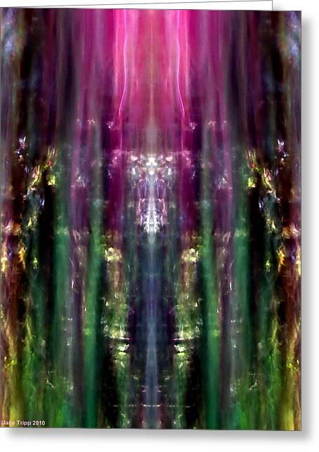 A Darker Vision Greeting Card by Jane Tripp