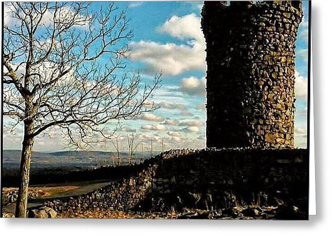 A Day At  Craigs  Castle   Greeting Card