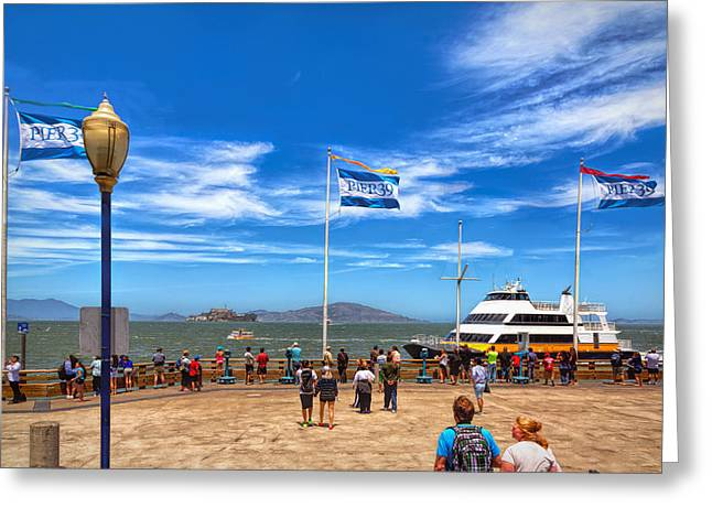Greeting Card featuring the photograph A Day At Pier 39 by John M Bailey