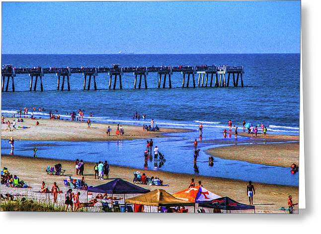 A Day At The Beach Greeting Card by Dave Bosse