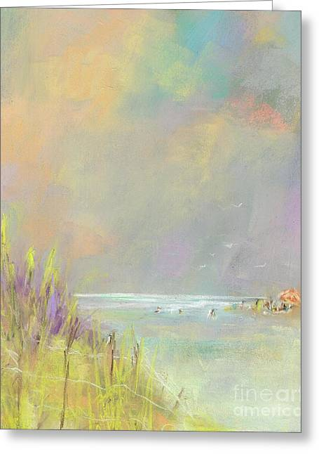 A Day At The Beach Greeting Card by Frances Marino