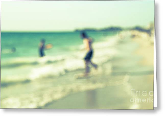 Greeting Card featuring the photograph a day at the beach III by Hannes Cmarits