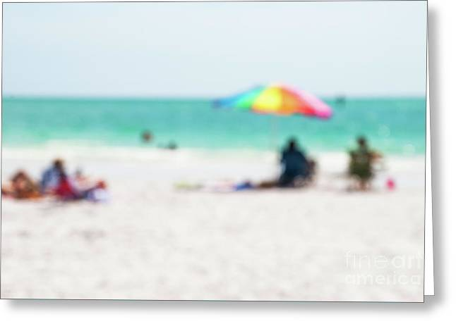 Greeting Card featuring the photograph a day at the beach IV by Hannes Cmarits