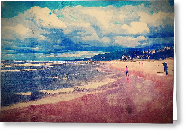 Greeting Card featuring the photograph A Day At The Beach by Phil Perkins