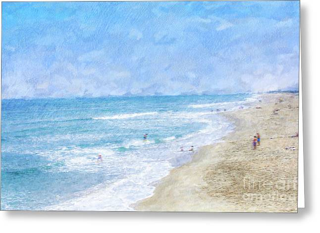 A Day At The Beach Greeting Card by Randy Steele