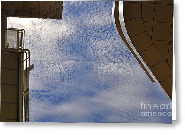 A Day At The Getty Greeting Card by Clayton Bruster