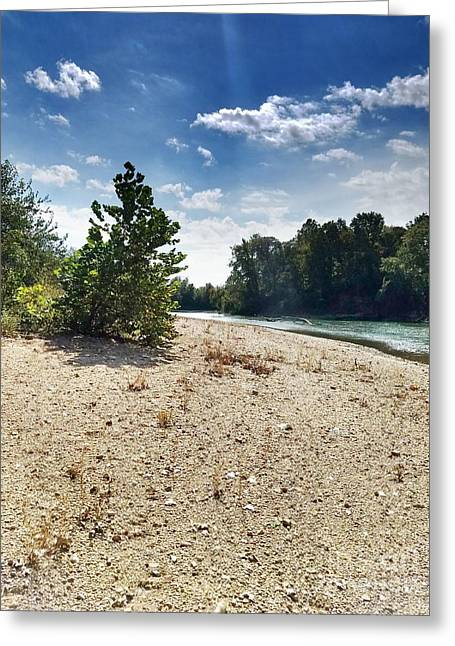 A Day At The River Greeting Card by Scott D Van Osdol