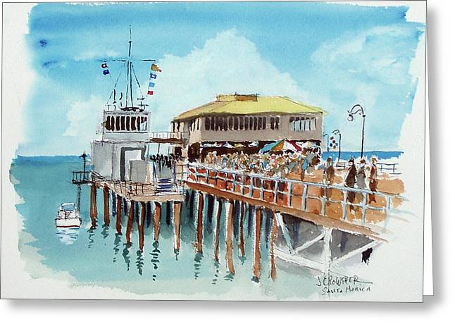 A Day At The Shore Greeting Card by John Crowther