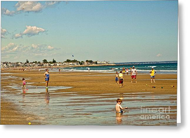 A Day At Wells Beach Greeting Card