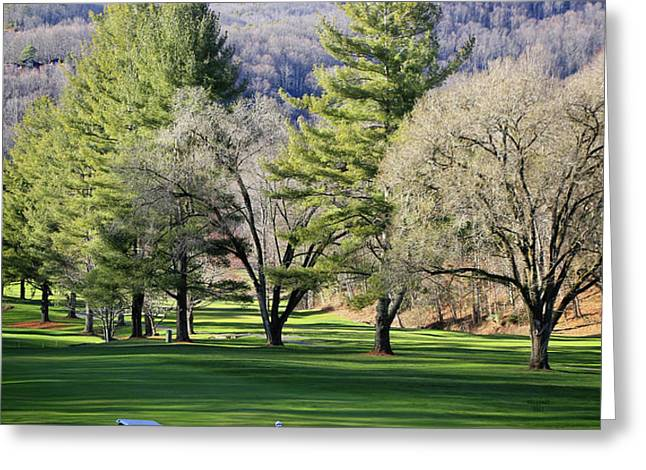 A Day For Golf  Greeting Card by Dennis Baswell